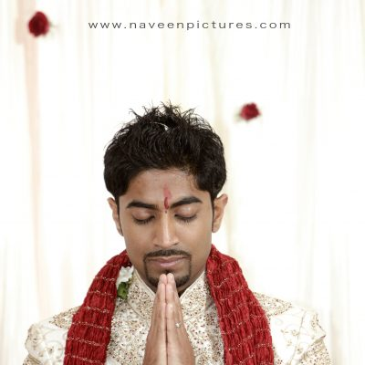 Indian Groom in Prayer